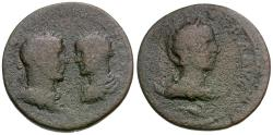 Ancient Coins - Philip I (AD 244-249) with Philip II and Otacilia Severa. Seleucis and Pieria. Coele. Damascus Æ29