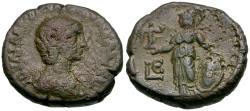Ancient Coins - Aquilia Severa (AD 218-222). Egypt. Alexandria Æ Tetradrachm / Athena