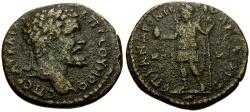 Ancient Coins - Septimius Severus, Lydia Saitta Æ24 / Men
