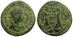Ancient Coins - Crispus Caesar Æ Follis / Captives in Exergue