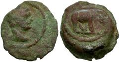 Ancient Coins - Trajan. Egypt. Alexandria Æ Dichalkon / Elephant