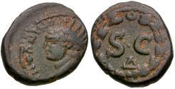 Ancient Coins - Caracalla (AD 198-217). Seleucis and Pieria. Antiochia ad Orontem Æ Semis / Wreath