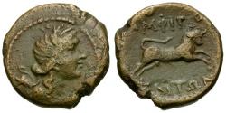 Ancient Coins - Macedon. Amphipolis Æ18 / Bull