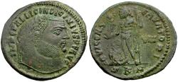 Ancient Coins - Licinius I Æ Follis / Jupiter