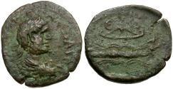 Ancient Coins - Severus Alexander. Pisidia. Selge Æ17 / Bow and Thunderbolt