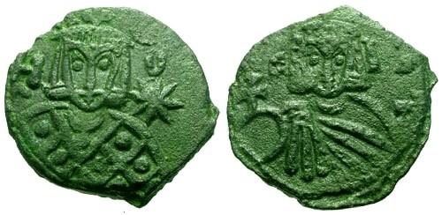 Ancient Coins - VF/VF Leo V AE Follis