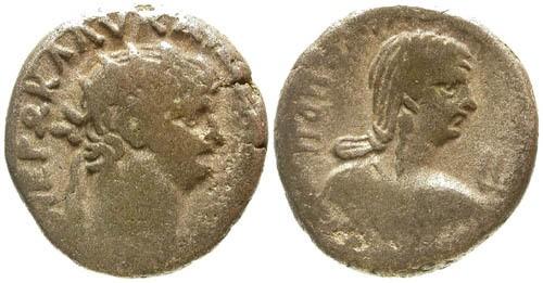 Ancient Coins - aVF/aVF Nero Alexandria Egypt Billon Tetradrachm / Poppaea