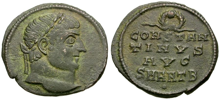 Ancient Coins - Constantine I the Great (AD 306-337) Æ3 / Anepigraphic