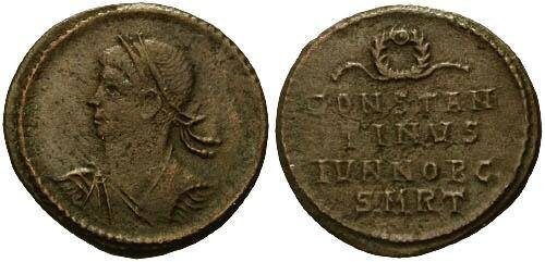 Ancient Coins - aVF/aVF Constantine II as Caesar / Anepigraphic Issue