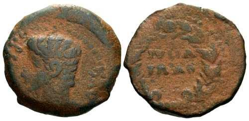Ancient Coins - gF/gF Spanish provincial of Augustus