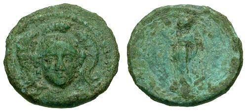 Ancient Coins - F+/F+ Antiochus I AE14 / Athena Facing
