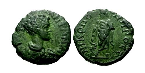 Ancient Coins - VF/VF Geta Nicopolis ad Istrum AE16 / Aesklepios