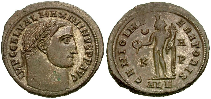 Ancient Coins - Maximinus II as Augustus (AD 310-313) Æ Follis / Bono