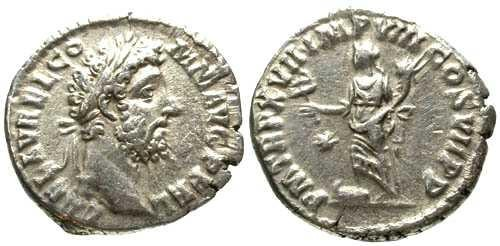 Ancient Coins - EF/VF Commodus Denarius / Fortuna Felix