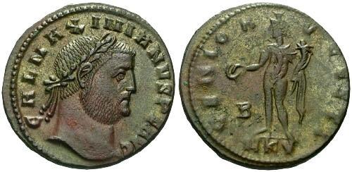 Ancient Coins - EF/VF Galerius Large Follis / Genio