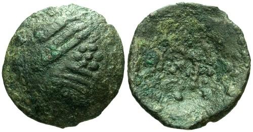 Ancient Coins - VF/F Dacian Inotesti Racoasa AE Imitation of Philip II