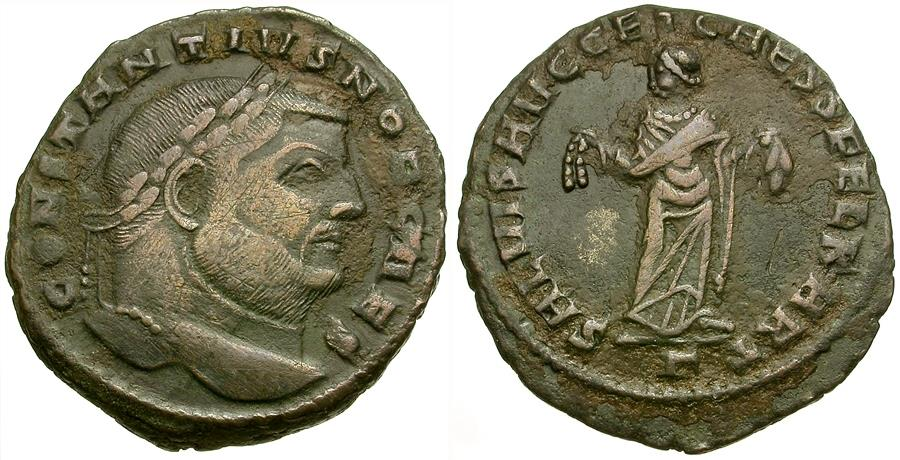 Ancient Coins - Constantius I, as Caesar (AD 293-305) Æ Follis / Carthage