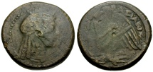 Ancient Coins - Ptolemaic Kings of Egypt. Ptolemy V Ephiphanes Æ35 / Isis