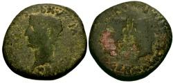 Ancient Coins - gF/gF Tiberius, Germanicus, and Drusus, Spain, Colonia Romula Æ31
