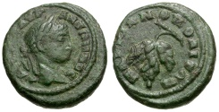 Ancient Coins - Elagabalus. Moesia. Markianopolis Æ16 / Grapes