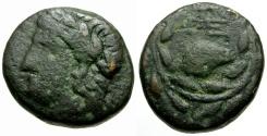 Ancient Coins - Achaia. Pellene Æ Tetrachalkon / Ram's Head