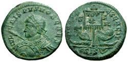 Ancient Coins - EF/EF Crispus Æ3 / Vexillum and Captives