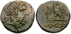 Ancient Coins - Pontos. Amisos. Time of Mithradates VI Eupator (85-65 BC) Æ19 / Eagle on Thunderbolt