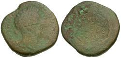Ancient Coins - Marcus Aurelius (AD 161-180) Æ Sestertius / Wreath