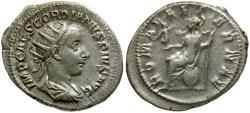 Ancient Coins - Gordian III AR Antoninianus / Roma Seated