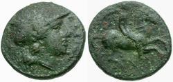 Ancient Coins - Sicily. Syracuse. Agathokles Æ Hemilitron / Horseman
