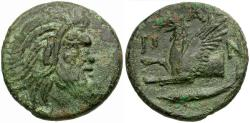 Ancient Coins - Thrace. Pantikapaion Æ21 / Griffin