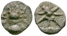 Ancient Coins - Ionia. Ephesos AR Hemiobol / Bee & Star