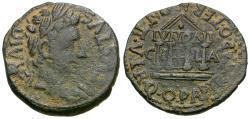Ancient Coins - Augustus (27 BC-AD 14). Spain. Ilici Æ Semis / Temple