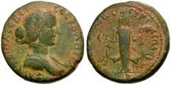 Ancient Coins - Faustina II. Judaea. Samaria. Neapolis Æ21 / Cultus Statue of Artemis