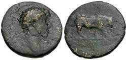 Ancient Coins - Marcus Aurelius (AD 161-180) Mysia. Kyzikos Æ21 / Bull