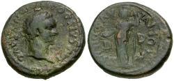 Ancient Coins - Domitian (AD 81-96). Macedonia. Dium Æ21 / Athena