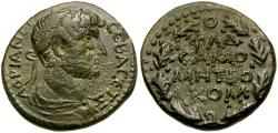 Ancient Coins - Hadrian. Commagene. Samosata Æ19 / Wreath