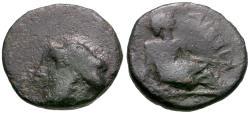 Ancient Coins - Thessaly. Kierion Æ14 / Arne