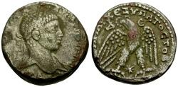 Ancient Coins - Elagabalus, Syria, Seleucia and Pieria, Antioch AR Tetradrachm / Eagle
