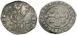 World Coins - Crusader Kings of Cyprus. Henri II, second reign (1310-1324) AR Gros