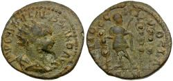 Ancient Coins - Volusian (AD 251-253). Pisidia. Antioch Æ24 / Volusian with Standards