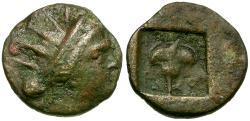 Ancient Coins - Caria. Rhodos Æ12 / Rose