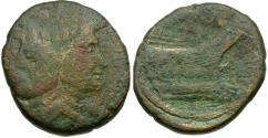 Ancient Coins - Imperatorial. The Pompeians. Cnaeus Pompey Jr (46-45 BC) Æ AS