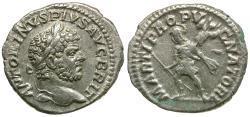 Ancient Coins - Caracalla (AD 198-217) AR Denarius / Mars