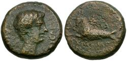 Ancient Coins - Gaius (Caligula). Lydia. Philadelphia. Attalikos Philokaisar magistrate Æ16 / Capricorn