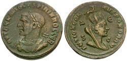 Ancient Coins - Philip I (AD 244-249). Seleucis and Pieria. Antiochia ad Orontem Æ29 / Bust of Tyche