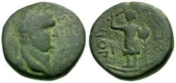 Ancient Coins - Vespasian. Judaea. Ascalon Æ20 / Phanebal