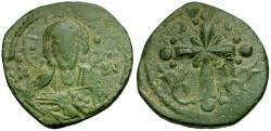 Ancient Coins - *Sear 1889* Byzantine Empire. Anonymous Class I Æ Follis / Christ Facing