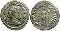 Ancient Coins - Caracalla AR Denarius / Fides