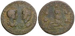 Ancient Coins - Severus Alexander (AD 222-235) with Julia Mamaea. Mesopotamia. Edessa Æ28 / Tyche